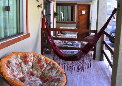 varanda relaxar - pousada encanto do pero - cabo frio